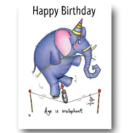 Irrelephant Greeting Card