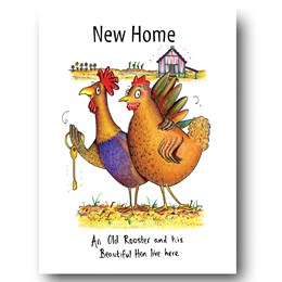 Old Rooster Greeting Card