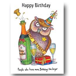 Live Longer Owl Greeting Card