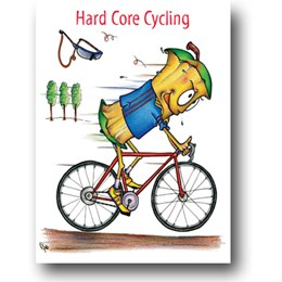 Core Cycling Greeting Card