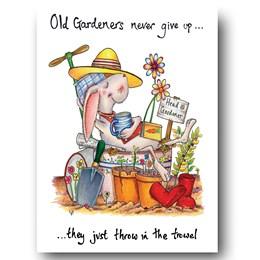 Old Gardener Greeting Card