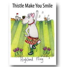 Highland Fling Greeting Card