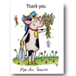 Moo-Cho-Gracias Greeting Card