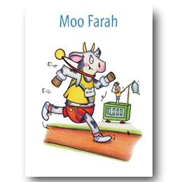 Moo Farah Greeting Card