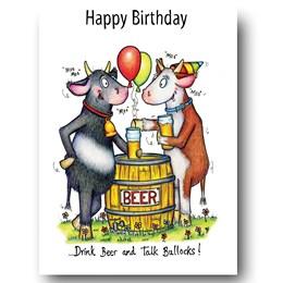 Talking Bullocks Greeting Card