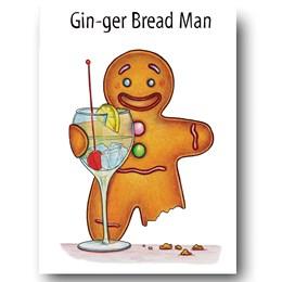 Gin-gerbread Man Greeting Card