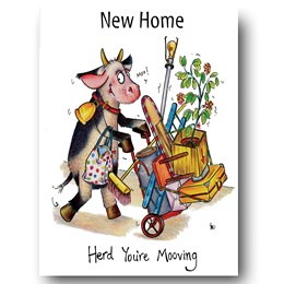 Herd Moving Greeting Card