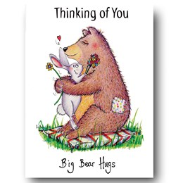 Bear Hugs Greeting Card