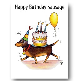 Sausage Greeting Card
