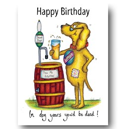 Dog's Years Greeting Card
