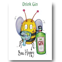 Bee Gin Greeting Card