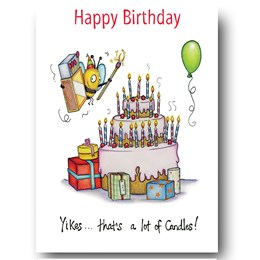 A Lot of Candles Greeting Card