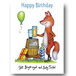 Bright eyed and bushy tailed Greeting Card