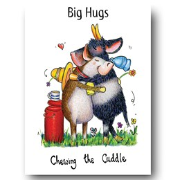 Chewing the Cuddle Greeting Card