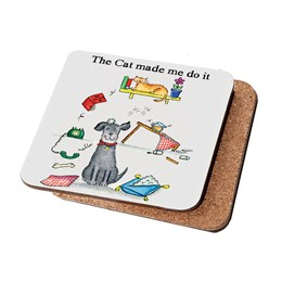 Cat made me do it coaster