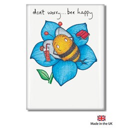 Bee Happy Fridge Magnet