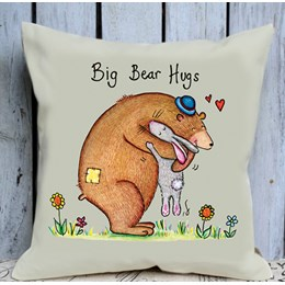 Bear Hugs Cushion Large