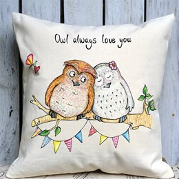 Owl Love Large Cushion