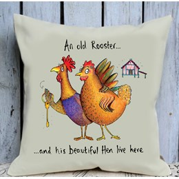 Old Rooster Cushion Large