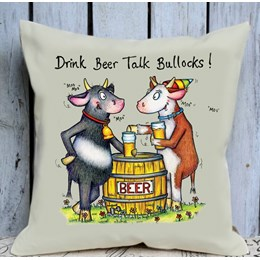 Talk Bullocks Cushion Large