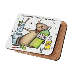 Ginning Ear to Ear Coaster