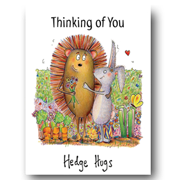 Hedge Hugs Greeting Card