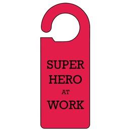 Super Hero Door Hanger