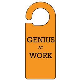 Genius Work Door Hanger