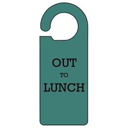 Out to Lunch Door Hanger