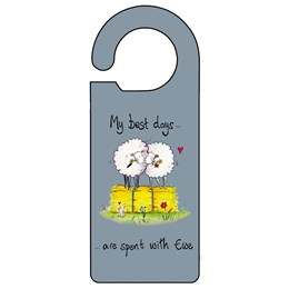 Spent with Ewe Door Hanger