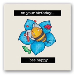 Bee Happy Embellishment Card