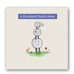 Thank Ewes Embellishment Card