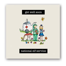 National Elf Service Embellishment Card