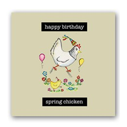 Spring Chicken Embellishment Card