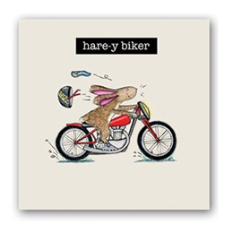 Hare-y Bikers Embellishment Card