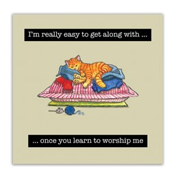 Worship Me Embellishment Card