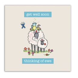 Thinking of Ewe Embellishment Card