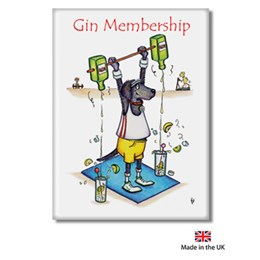 Gin Membership Fridge Magnet