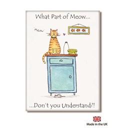 Meow Fridge Magnet