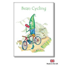 Bean Cycling Fridge Magnet