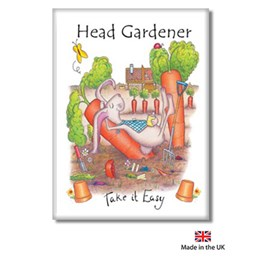 Head Gardener Fridge Magnet
