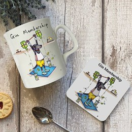 Gin Membership Mug and Coaster Set