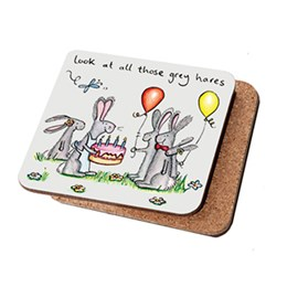 Grey Hares Coaster