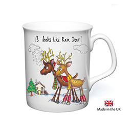 Rain Dear Christmas Mug