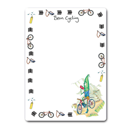 Bean Cycling Dry-Wipe Board