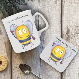 Bee's Knees Mug and Coaster Set