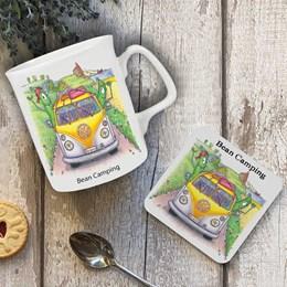 Bean Camping Mug and Coaster
