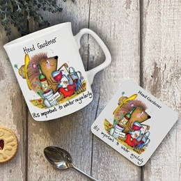 Water Regularly Mug and Coaster