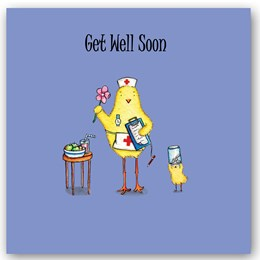 Get Well Soon Chick Occasions Card