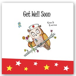 Get Well Soon Owl Occasions Card